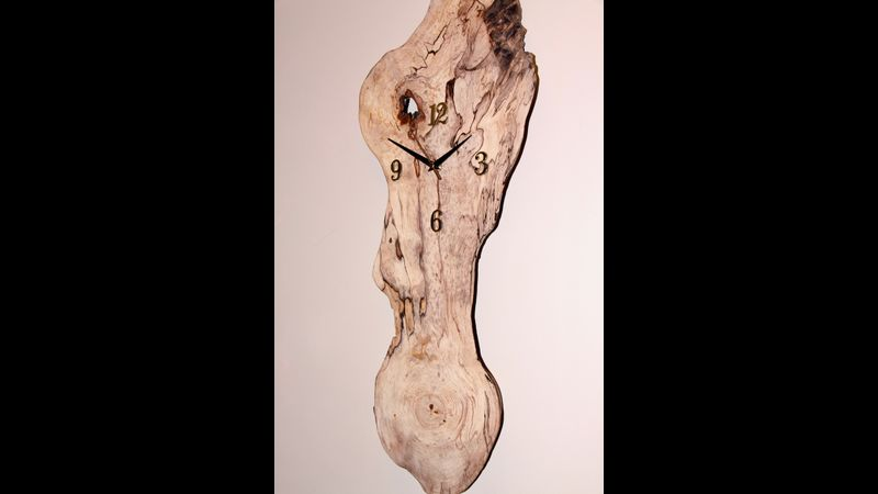 Spalted Ash, Wall Hanging Clock