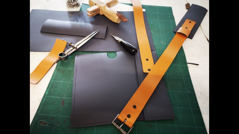 example of leather students work