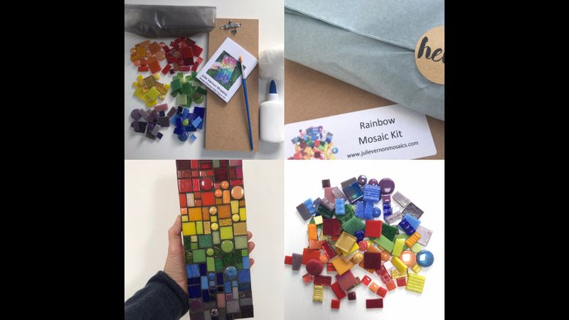 Rainbow Mosaic Wall Art Kit