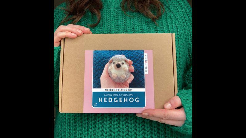 Needle Felted Hedgehog Kit - Bergin & Bath