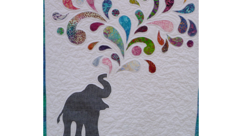 Elephant Batik Splash