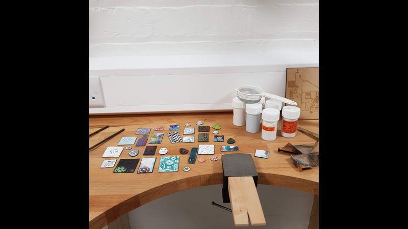 Beginners enamelling workshop in Warrington