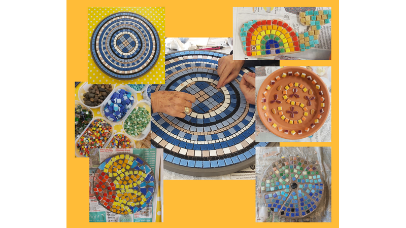 Mosaic making for beginners and improvers in Henstridge, Somerset near Stalbridge, Dorset
