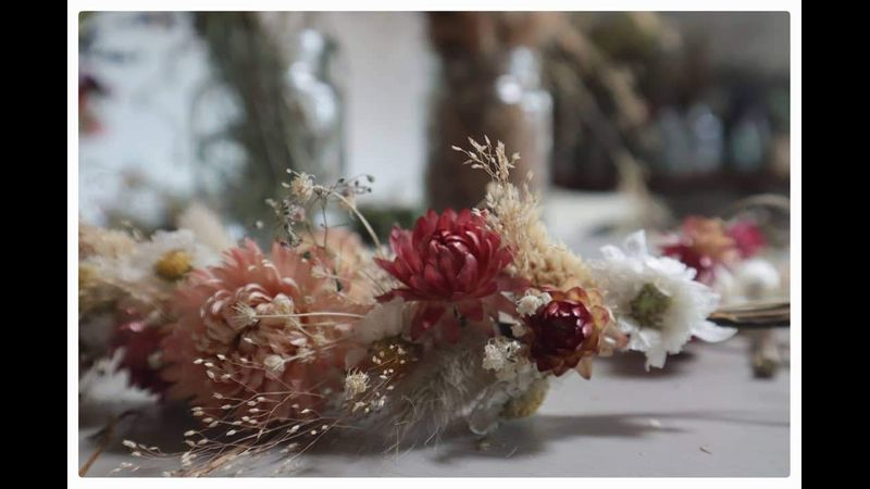 Dried Flower Crowns for weddings, parties and Festivals