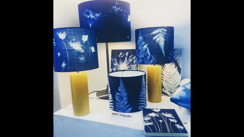 Sun printed lamp shades