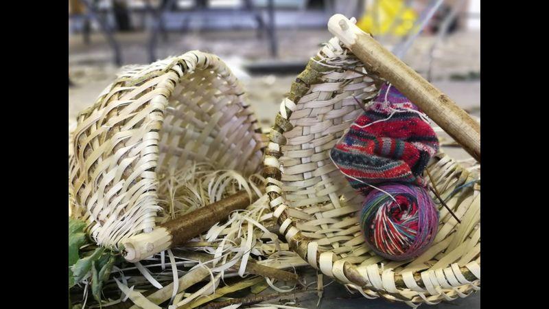 Split hazel basket course at Acton Scott