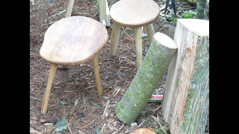 Make your own rustic stool in North Cornwall