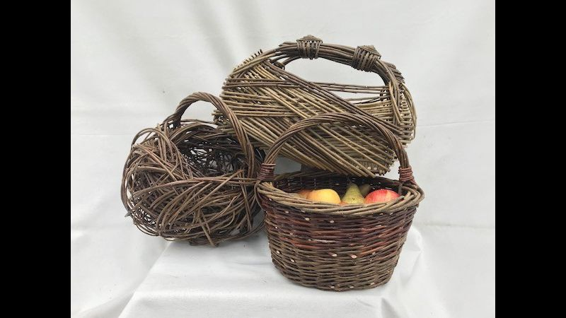Freewoven, Round & Zarzo Baskets that can be made at the Willow Basket Day, Coates English Willow