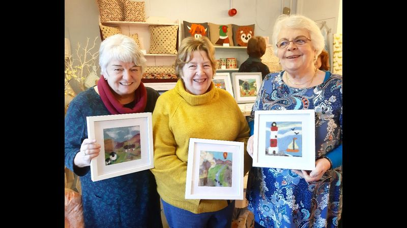 A fun ladies day out, needle felting amongst friends.