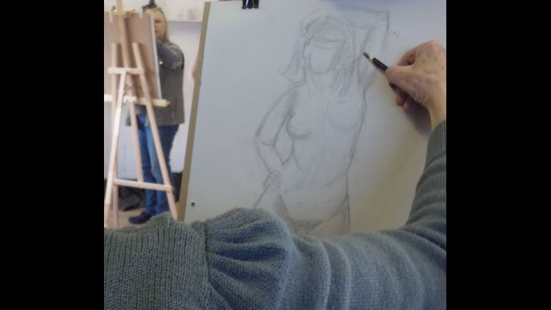 life drawing proportion