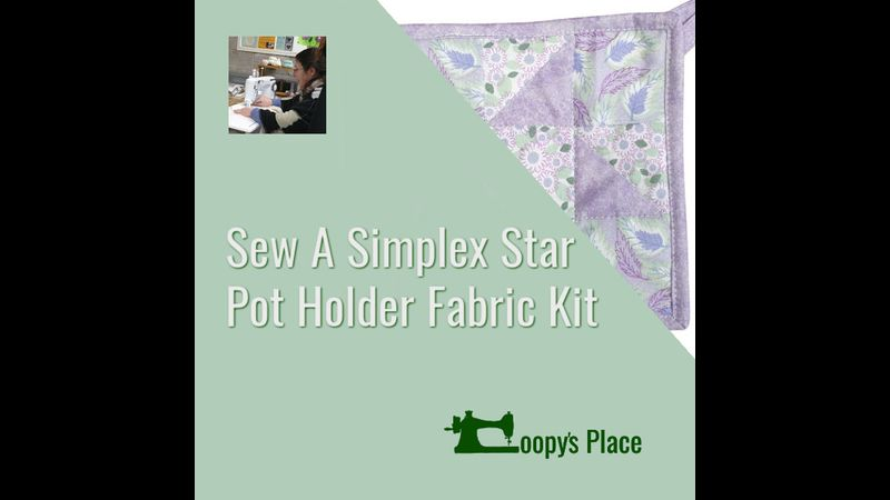 Kit for Sew A Simplex Star Pot Holder Class