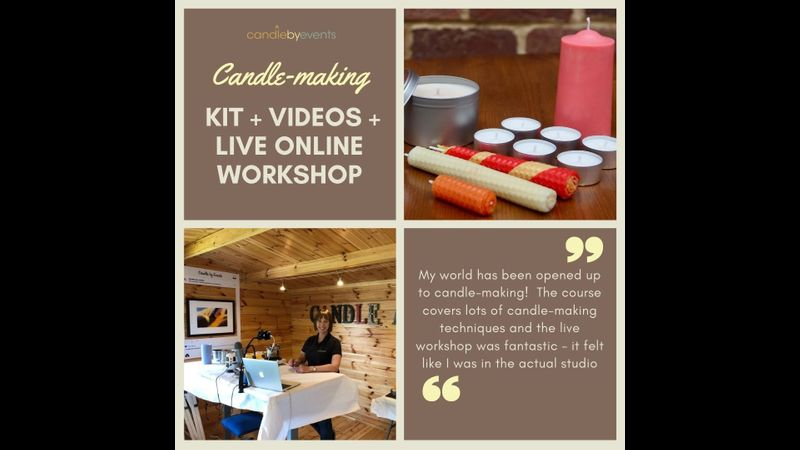 Candle making, kit, videos & LIVE online