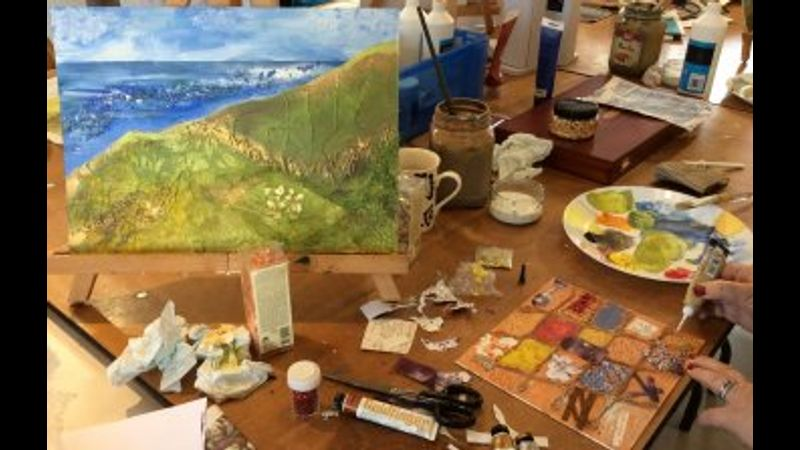 Kick start your art with our one-day Mixed Media class!