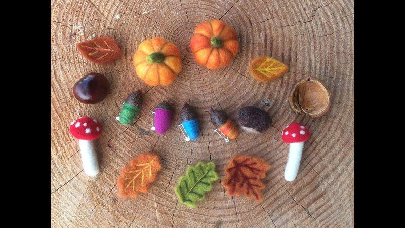 Autumn Woodland Needle Felting