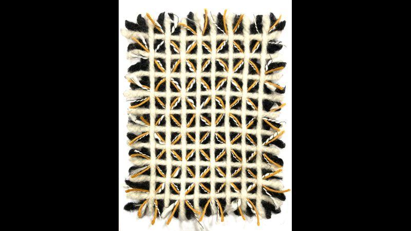 Needle felted weave