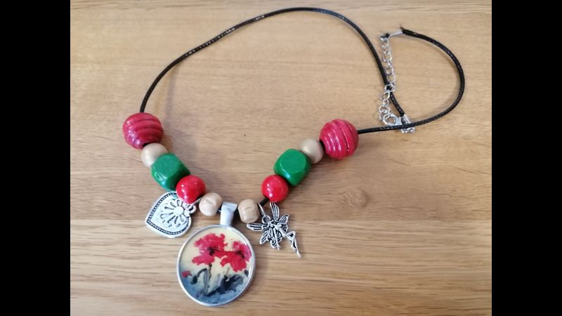 Charms and wooden beads