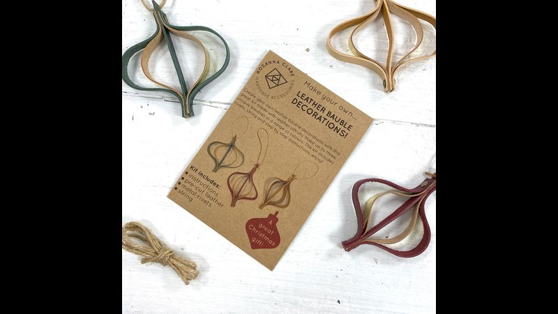 Leather Christmas Bauble Kit instructions