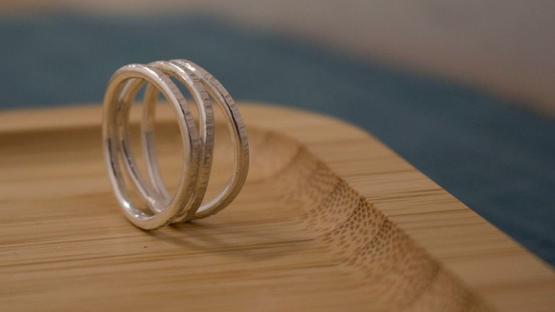 Make your own silver Sea Waves ring with Joanne Tinley, jewellery making in Hampshire