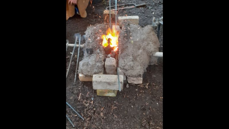 Making the pit forge