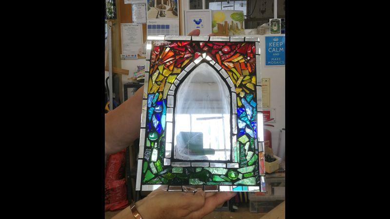 Gothic mosaic mirror
