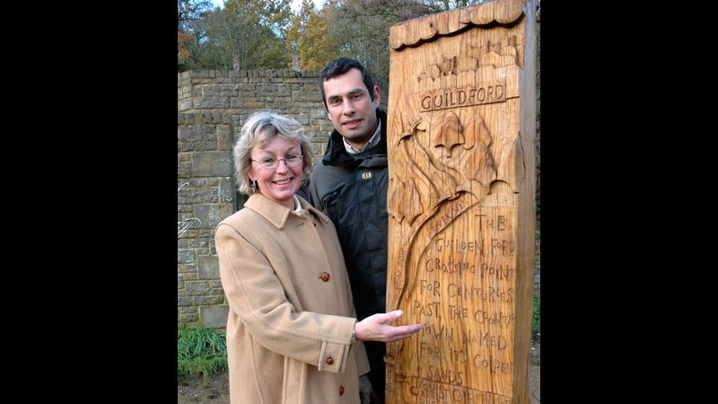 Weymarkers for Guildford Borough Council - commission - oak