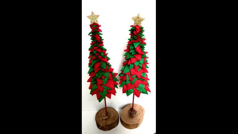 Wood and Felt Christmas tree