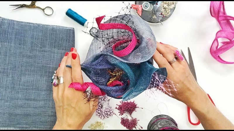 DIY LILY FLOWER Fascinator Hat - Material Kit
