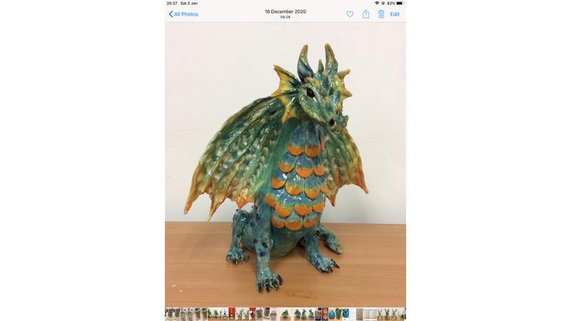 40cm tall dragon