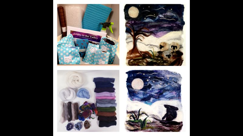 Crafts in the Valley's Moonlit Night Felting Kit.