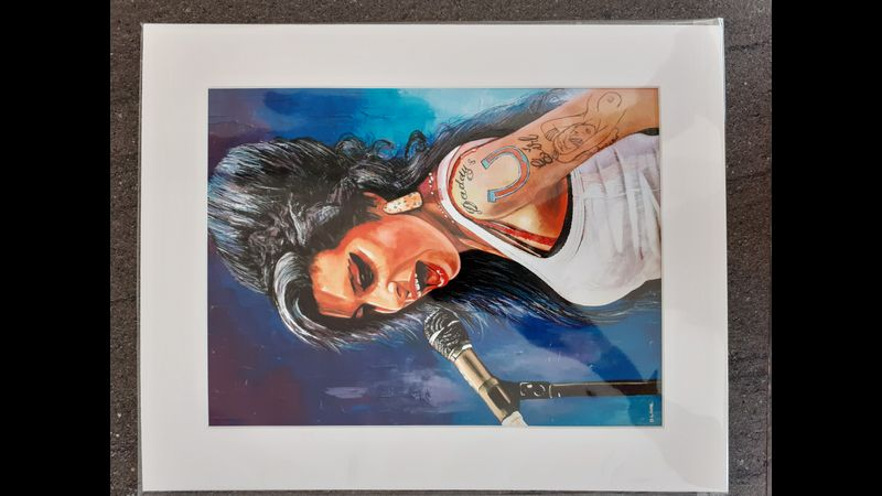Mounted print of ORIGINAL Amy Winehouse