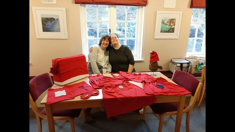 Julie and Nikki at the Boscastle Venue
