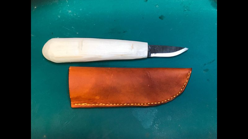 Finished Knife & Sleeve