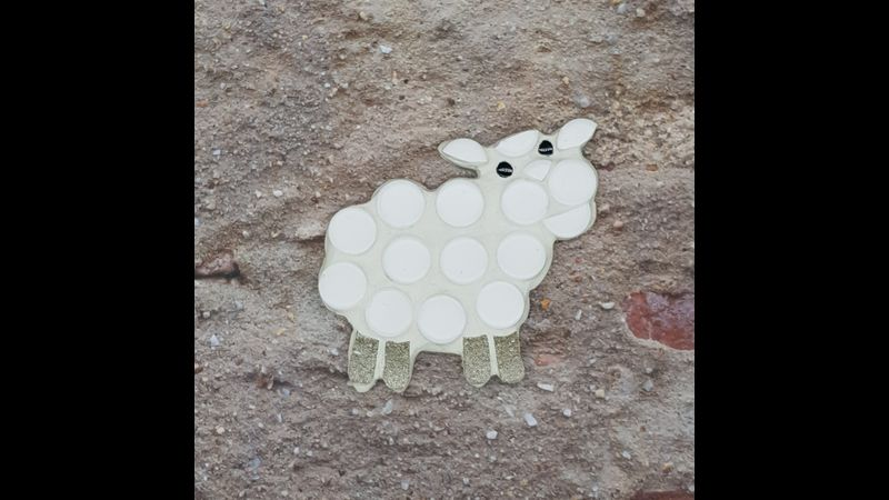 completed sheep mosaic