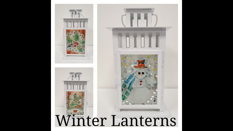 A lovely Christmas Lantern to welcome Father Christmas!