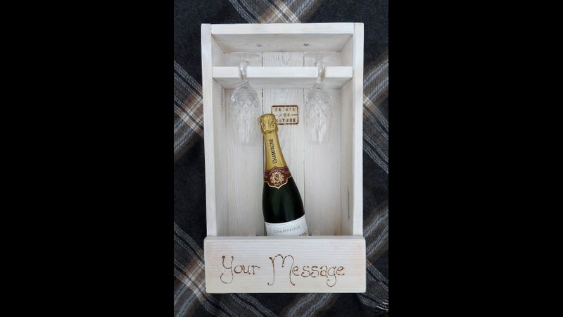 Finished Wine box, ready for a personalised message