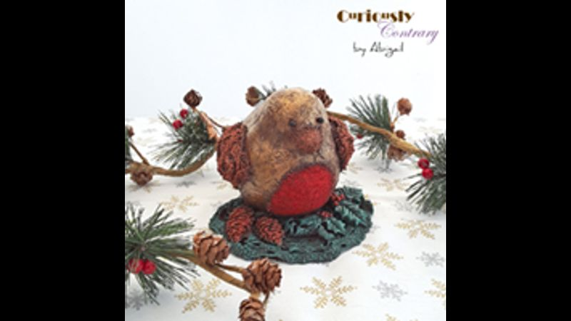 Festive Robin Decoration by Curiously Contrary