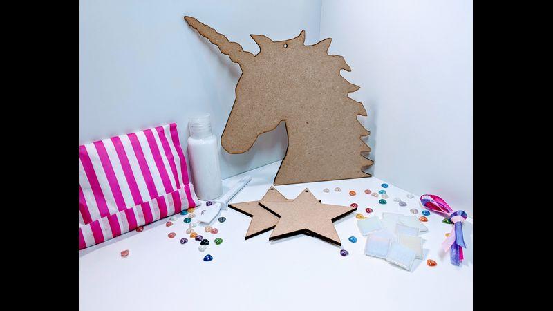 Unicorn Mosaic Kit Contents