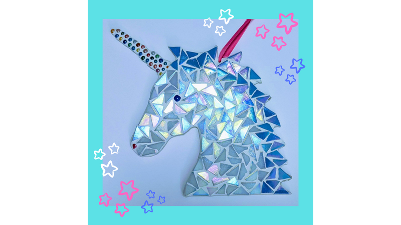 Unicorn and star mosaic craft kit