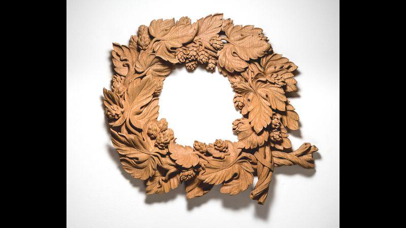 Example of William's work (ornamental hop wreath)