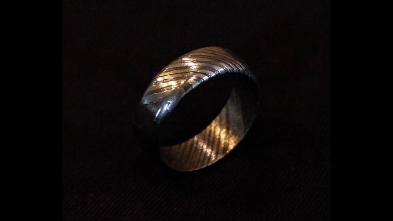 Damascus ring making