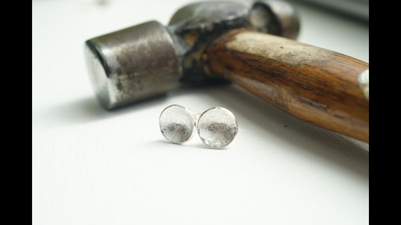 Studs with a satin finish
