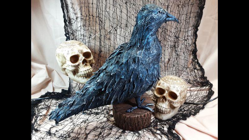 3D Fabric Sculpted Raven