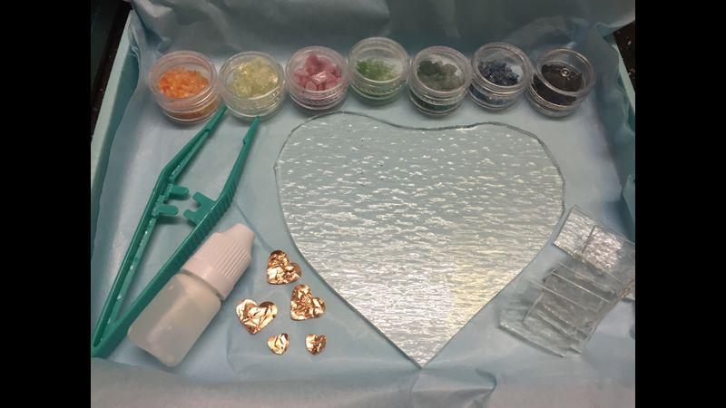 fused glass valentines kit