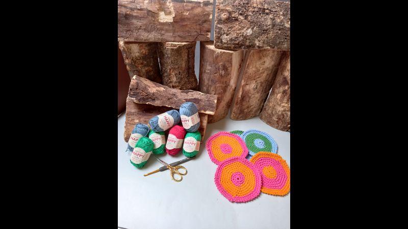 Summer coasters and yarn