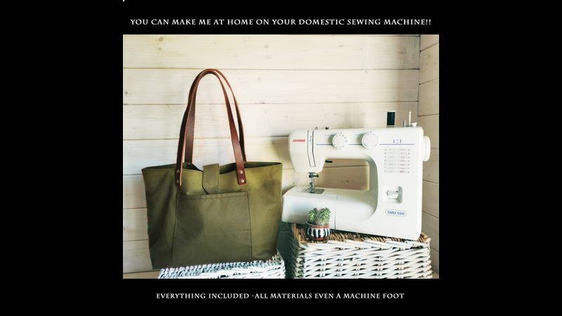 Waxed cotton tote achievable on a domestic sewing machine.