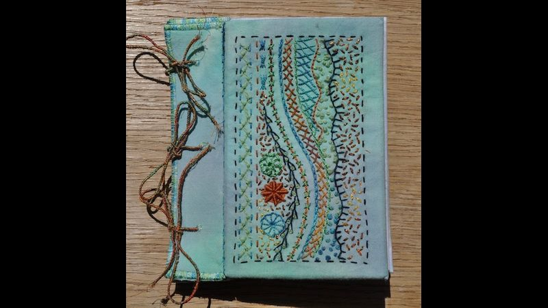 Hand embroidered journal cover