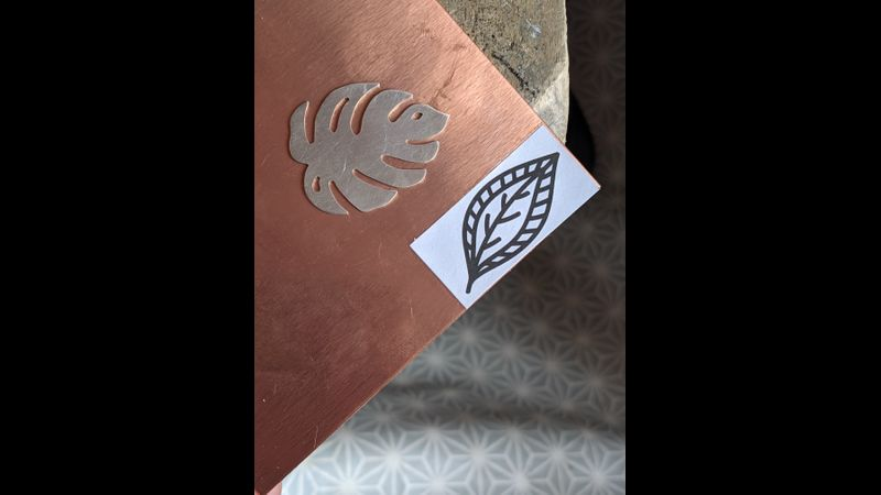 Silver and copper shapes