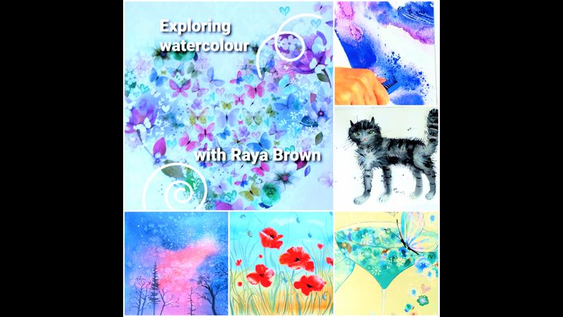 Explore watercolours at interactive online course with artist Raya Brown