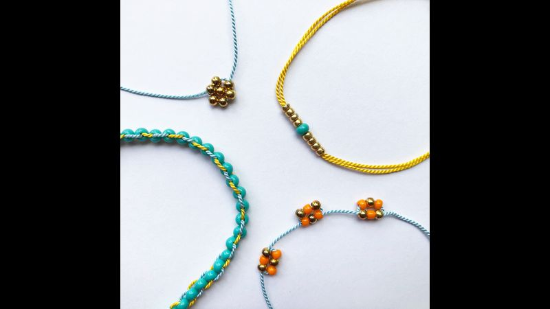 Beaded Bracelets Kit - Gold - Bergin & Bath