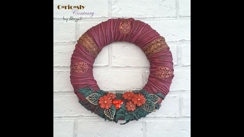Festive Wreath - Workshop Project by Curiously Contrary